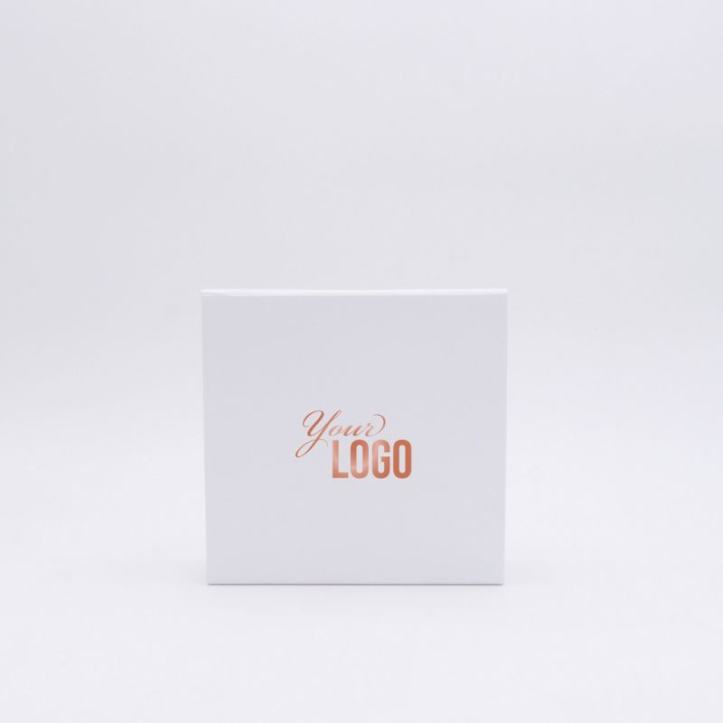 Customized Personalized Magnetic Box Flatbox 15x15x5 CM | WONDERBOX | STANDARD PAPER | HOT FOIL STAMPING