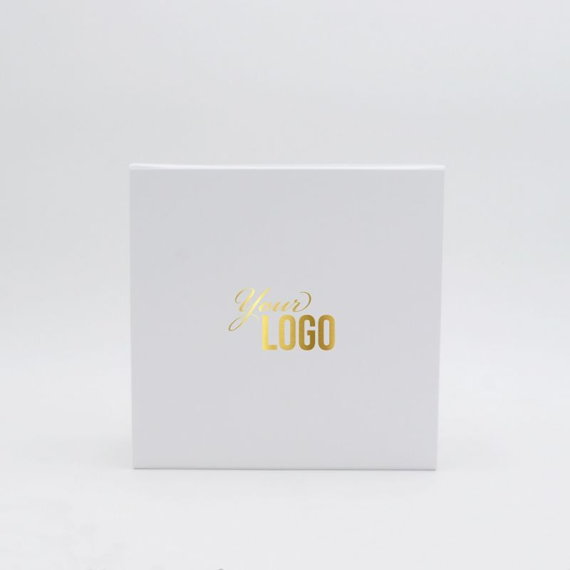Boîte aimantée personnalisée Flatbox 22x22x10 CM | WONDERBOX | PAPIER STANDARD |IMPRESSION À CHAUD