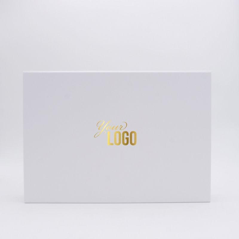 Boîte aimantée personnalisée Flatbox 37x26x6 CM | WONDERBOX | PAPIER STANDARD | IMPRESSION À CHAUD