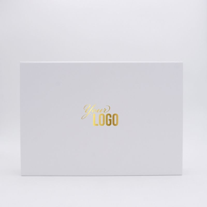 Customized Personalized Magnetic Box Flatbox 37x26x6 CM | WONDERBOX | STANDARD PAPER | HOT FOIL STAMPING