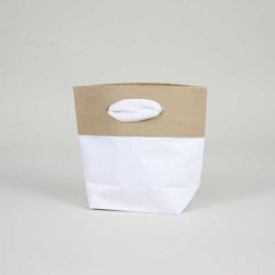 Shopping bag Cement (delivery in 15 days)15x8x20 CM | PREMIUM CEMENT PAPER BAG | SCREEN PRINTING ON TWO SIDES IN TWO COLOURS