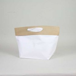 Shopping bag Cement (delivery in 15 days)28x18x30 CM | PREMIUM CEMENT PAPER BAG | SCREEN PRINTING ON TWO SIDES IN TWO COLOURS