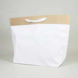 Shopping bag Cement (delivery in 15 days)45x18x45 CM | PREMIUM CEMENT PAPER BAG | SCREEN PRINTING ON TWO SIDES IN TWO COLOURS