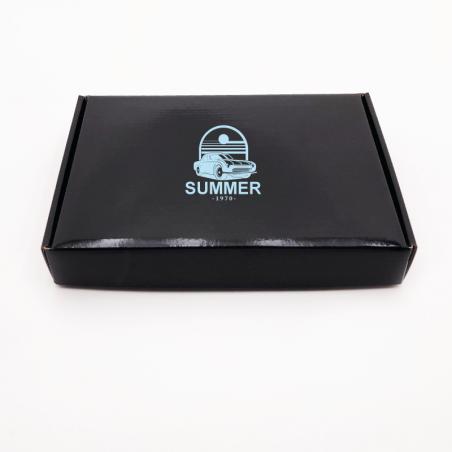 Envase postal laminado 23x17x3,8 CM | POSTPACK PLASTIFICADO | IMPRESIÓN SERIGRÁFICA DE UN LADO EN UN COLOR