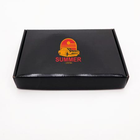 Envase postal laminado 32x23x4,8 CM | POSTPACK PLASTIFICADO | IMPRESIÓN SERIGRÁFICA DE UN LADO EN DOS COLORES