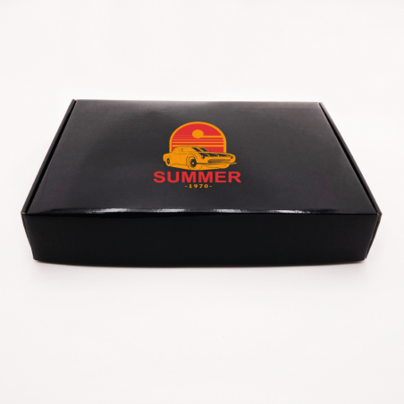 Customized Personalized Shipping Box Postpack 32x44x5,8 CM | LAMINATED POSTPACK | SCREEN PRINTING ON ONE SIDE IN TWO COLOURS