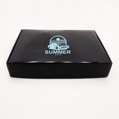 Customized Personalized Shipping Box Postpack 32x44x5,8 CM | LAMINATED POSTPACK | SCREEN PRINTING ON ONE SIDE IN ONE COLOUR