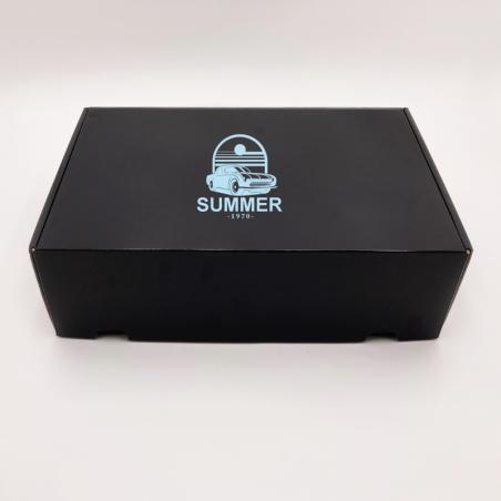 Envase postal laminado 34x24x10,5 CM | POSTPACK PLASTIFICADO | IMPRESIÓN SERIGRÁFICA DE UN LADO EN UN COLOR