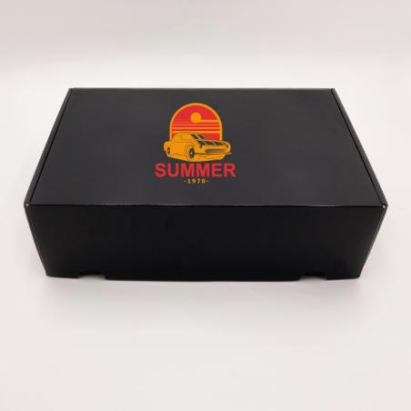 Boîte d'expédition personnalisée Postpack 42,5x31x15,5 CM | POSTPACK PLASTIFIÉ | IMPRESSION EN SÉRIGRAPHIE SUR UNE FACE EN DE...