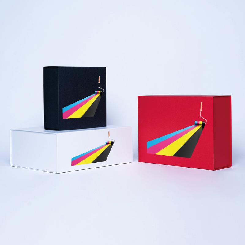 Gepersonaliseerde Gepersonaliseerde magnestische geschenkdoos Wonderbox 15x15x5 CM | WONDERBOX | DIGITALE BEDRUKKING OP GEDEF...
