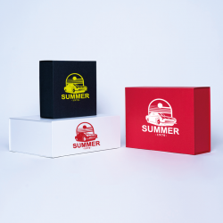 Caja magnética personalizada Wonderbox 19x9x7 CM | WONDERBOX (ARCO) | IMPRESIÓN SERIGRÁFICA DE UN LADO EN UN COLOR