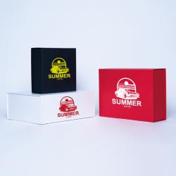 Gepersonaliseerde Gepersonaliseerde magnestische geschenkdoos Wonderbox 18x18x8 CM | WONDERBOX (ARCO) | ZEEFBEDRUKKING OP 1 Z...