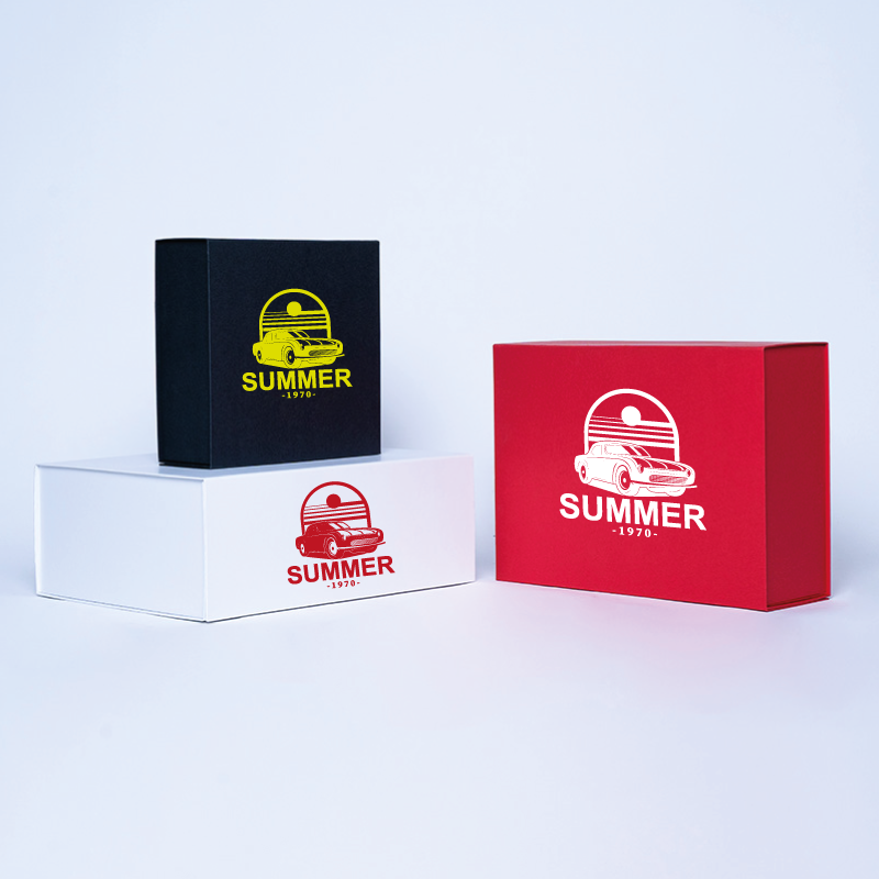 Caja magnética personalizada Wonderbox 10x10x7 CM | WONDERBOX (ARCO) | IMPRESIÓN SERIGRÁFICA DE UN LADO EN UN COLOR