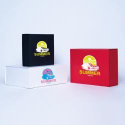 Scatola magnetica personalizzata Wonderbox 22x22x10 CM | WONDERBOX | CARTA STANDARD | STAMPA SERIGRAFICA SU UN LATO IN DUE CO...