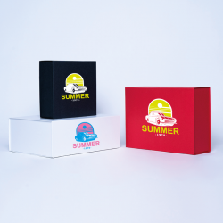 Customized Personalized Magnetic Box Wonderbox 19x9x7 CM | WONDERBOX (ARCO) | SCREEN PRINTING ON ONE SIDE IN TWO COLOURS