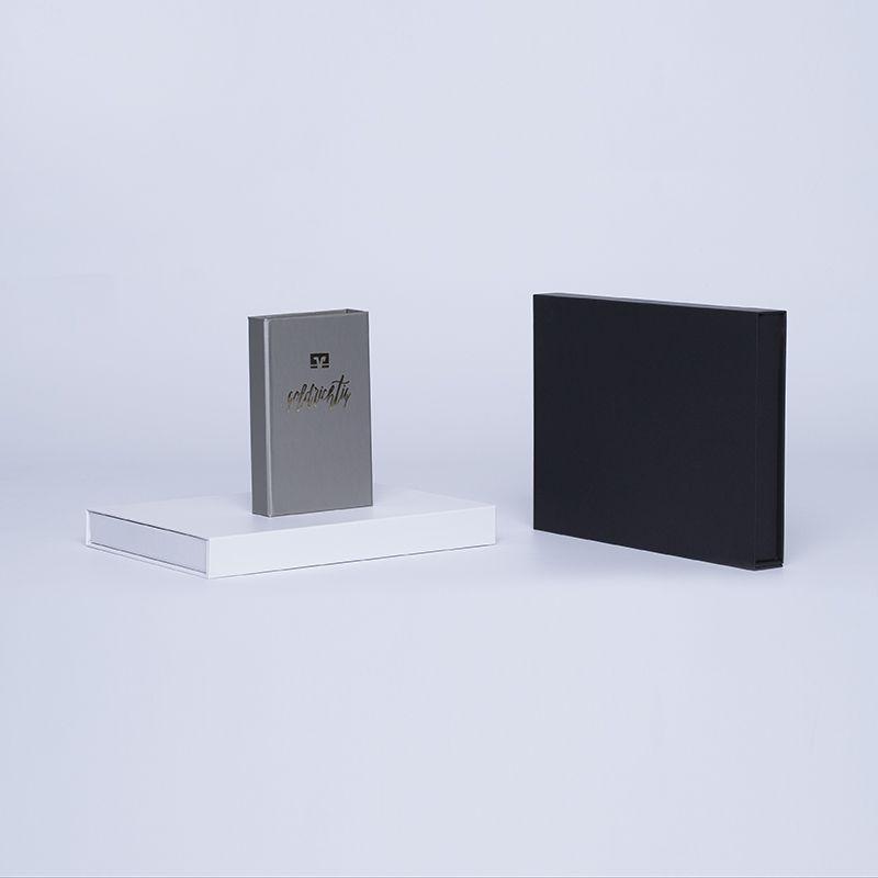 Caja magnética personalizada Hingbox 21x15x2 CM | CAJA HINGBOX | ESTAMPADO EN CALIENTE