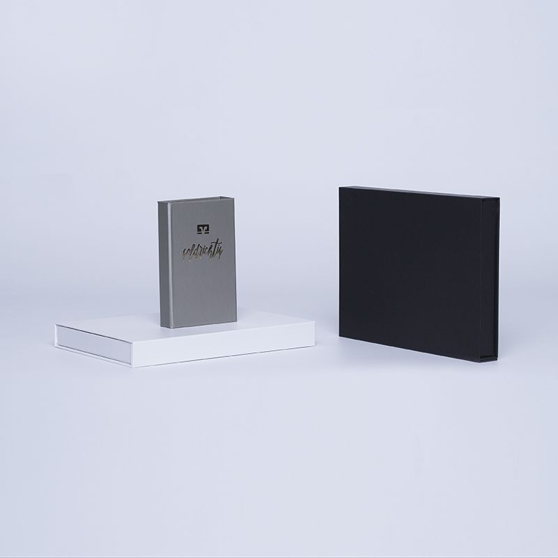 Customized Personalized Magnetic Box Hingbox 12x7x3 CM   HINGBOX   HOT FOIL STAMPING