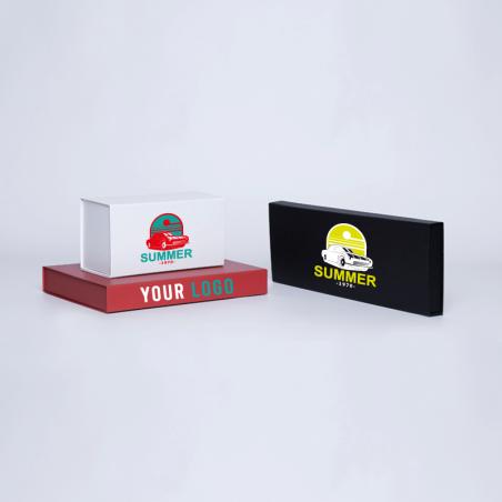 Boîte aimantée personnalisée Wonderbox 22x10x11 CM | WONDERBOX (EVO) | IMPRESSION EN SÉRIGRAPHIE SUR UNE FACE EN DEUX COULEURS