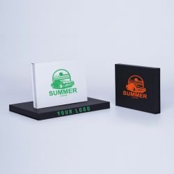 Customized Personalized Magnetic Box Hingbox 15,5x11x2 CM | HINGBOX | SCREEN PRINTING ON ONE SIDE IN ONE COLOUR