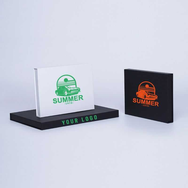 Caja magnética personalizada Hingbox 12x7x2 CM   CAJA HINGBOX   IMPRESIÓN SERIGRÁFICA DE UN LADO EN UN COLOR
