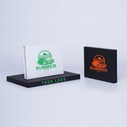 Gepersonaliseerde Gepersonaliseerde magnestische geschenkdoos Hingbox 12x7x3 CM | HINGBOX | ZEEFBEDRUKKING OP 1 ZIJDE IN 1 KLEUR