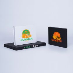Customized Personalized Magnetic Box Hingbox 15,5x11x2 CM | HINGBOX | SCREEN PRINTING ON ONE SIDE IN TWO COLOURS