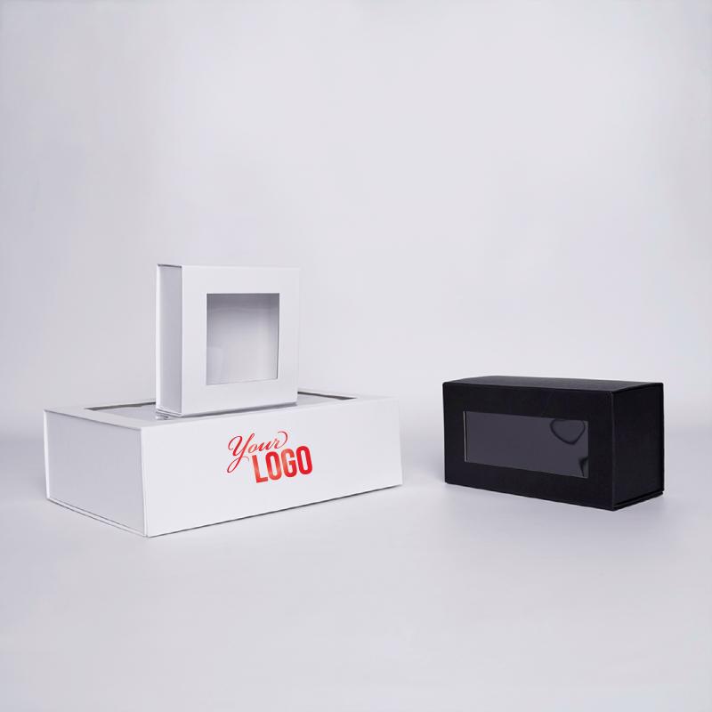 Gepersonaliseerde Gepersonaliseerde magnestische geschenkdoos Clearbox 22x10x11 CM | CLEARBOX | HETE BEDRUKKING | CENTURYPRINT