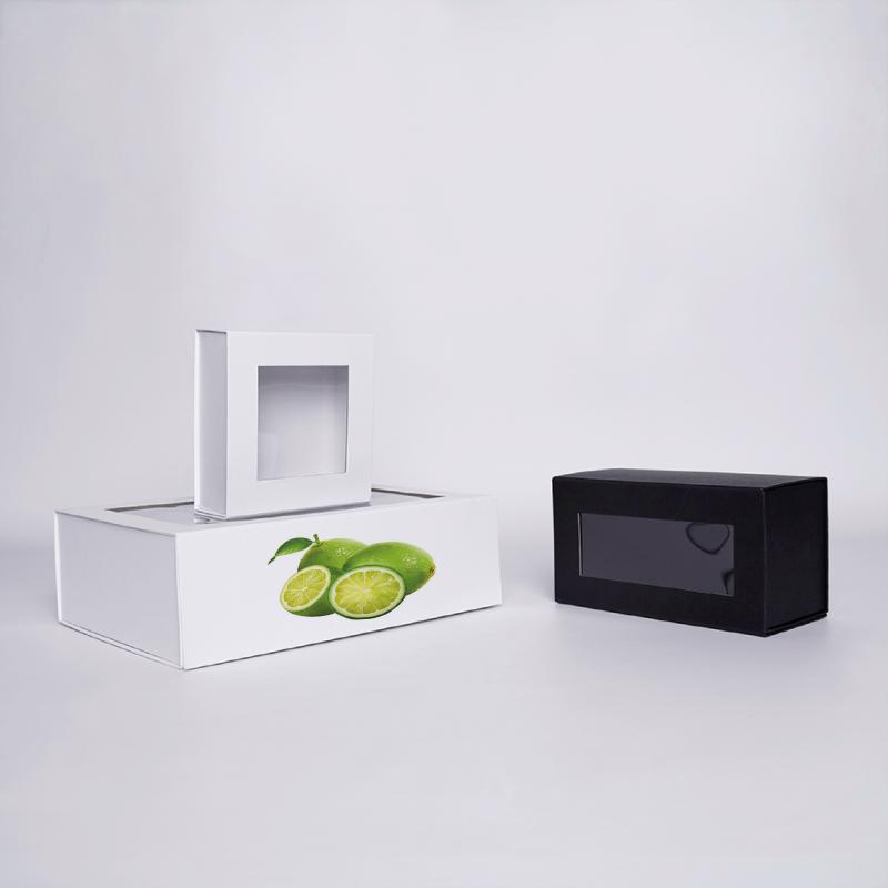 Gepersonaliseerde Gepersonaliseerde magnestische geschenkdoos Clearbox 15x15x5 CM 15*15*5 CM  CLEARBOX   DIGITAAL AFDRUKKEN O...
