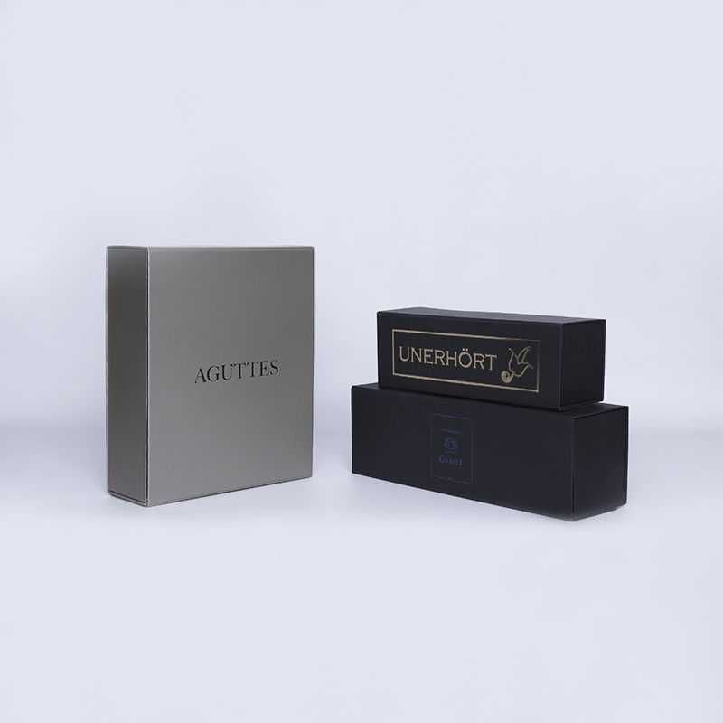 Customized Personalized Magnetic Box Bottlebox 10x33x10 CM | BOTTLE BOX |1 BOTTLE BOX| HOT FOIL STAMPING