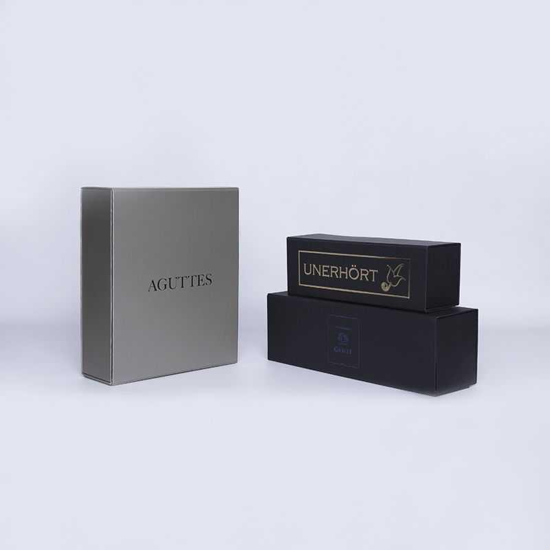 PERSONALISIERT Flaschenbox Magnetbox 10x33x10 CM | BOTTLE BOX |BOÎTE POUR 1 BOUTEILLE | IMPRESSION À CHAUD