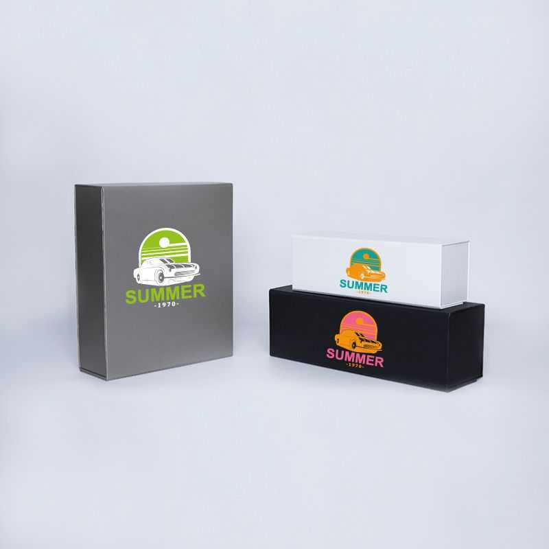 Customized Personalized Magnetic Box Bottlebox 10X33X10 CM   BOTTLE BOX   1 BOTTLE BOX   SCREEN PRINTING ON ONE SIDE IN TWO C...