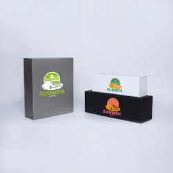 Customized Personalized Magnetic Box Bottlebox 28x33x10 CM | BOTTLE BOX | 3 BOTTLES BOX | SCREEN PRINTING ON ONE SIDE IN TWO ...