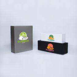Gepersonaliseerde Gepersonaliseerde magnestische geschenkdoos Bottlebox 28x33x10 CM | BOTTLE BOX | DOOS VOOR 3 FLESSEN | ZEEF...