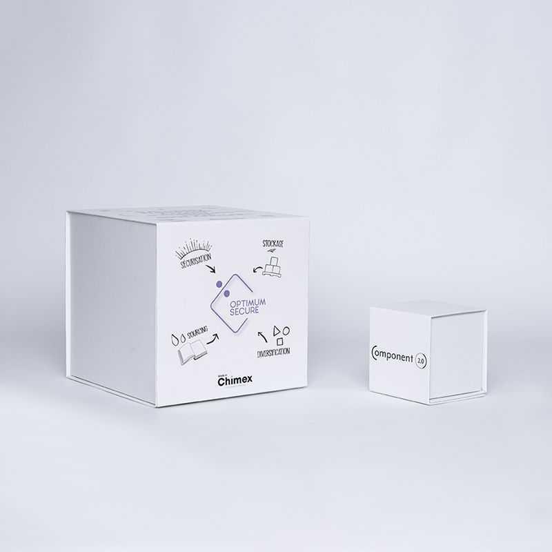 Gepersonaliseerde Gepersonaliseerde magnestische geschenkdoos Cubox 22x22x22 CM   CUBOX   DIGITALE BEDRUKKING OP GEDEFINIEERD...