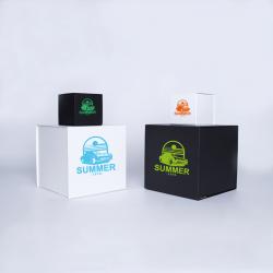 Gepersonaliseerde Gepersonaliseerde magnestische geschenkdoos Cubox 10x10x10 CM | CUBOX | ZEEFBEDRUKKING OP 1 ZIJDE IN 1 KLEUR