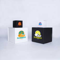 Cubox personalisierte Magnetbox 10x10x10 CM | CUBOX | SIEBDRUCK AUF EINER SEITE IN ZWEI FARBEN
