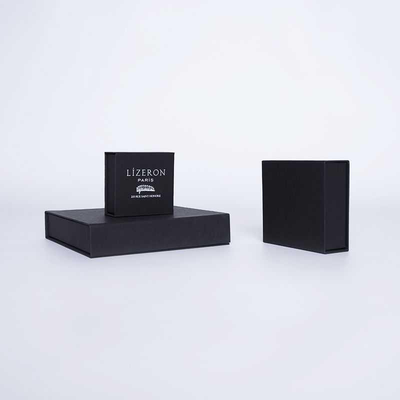 Boîte aimantée personnalisée Sweetbox 7x7x3 CM | SWEET BOX | IMPRESSION À CHAUD
