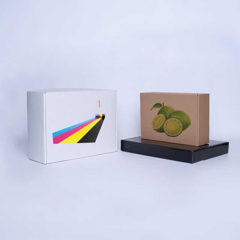 Boîte Postpack Extra-strong 25x23x11 CM   POSTPACK  IMPRESSION NUMÉRIQUE SUR ZONE PRÉDÉFINIE