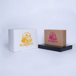 Gepersonaliseerde Postpack Extra-strong 34x24x10,5 CM | POSTPACK | ZEEFBEDRUKKING OP EEN KANT IN ÉÉN KLEUR