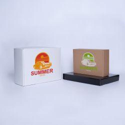 Envase postal laminado 23x12x10,8 CM | POSTPACK PLASTIFICADO | IMPRESIÓN SERIGRÁFICA DE UN LADO EN DOS COLORES