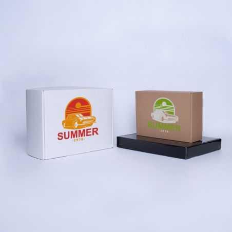 Envase postal laminado 16x16x5,8 CM | POSTPACK PLASTIFICADO | IMPRESIÓN SERIGRÁFICA DE UN LADO EN DOS COLORES