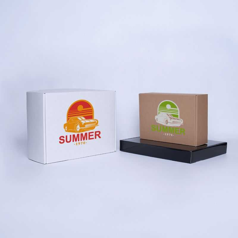 Envase postal laminado 25x23x11 CM   POSTPACK PLASTIFICADO   IMPRESIÓN SERIGRÁFICA DE UN LADO EN DOS COLORES