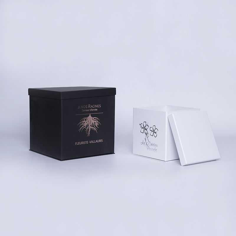 Caja personalizada Flowerbox 18x18x18 CM   CAJA FLOWERBOX   ESTAMPADO EN CALIENTE