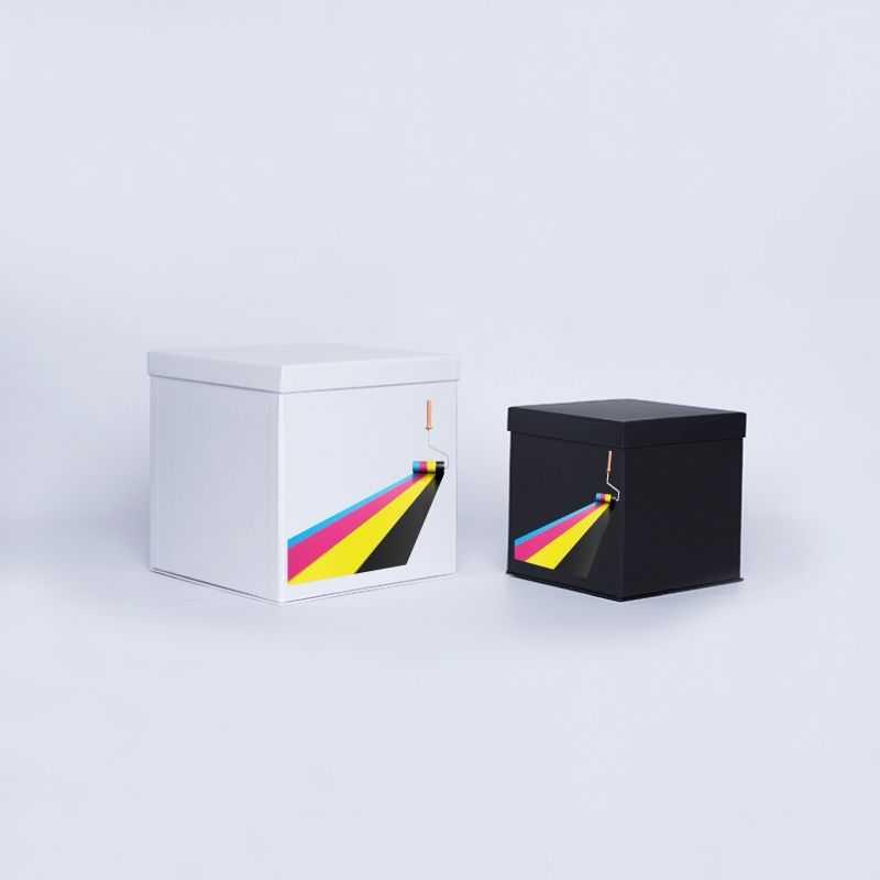 Caja personalizada Flowerbox 25x25x25 CM   CAJA FLOWERBOX   IMPRESIÓN DIGITAL EN ÁREA PREDEFINIDA