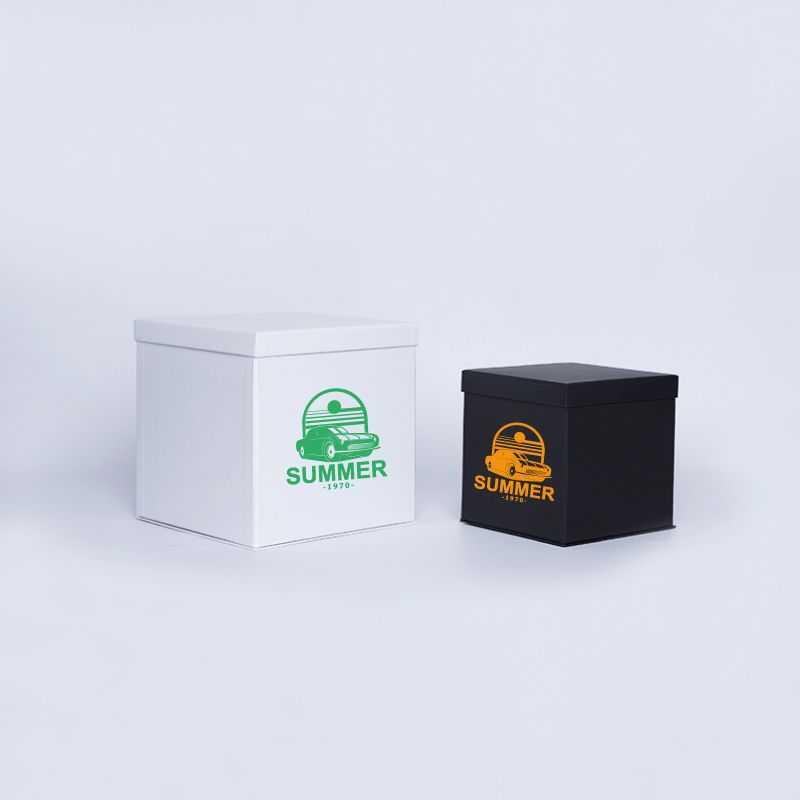 Caja personalizada Flowerbox 25x25x25 CM | CAJA FLOWERBOX | IMPRESIÓN SERIGRÁFICA DE UN LADO EN UN COLOR
