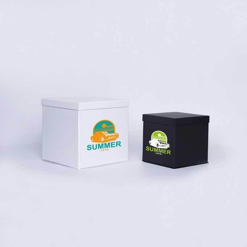 Caja personalizada Flowerbox 18x18x18 CM   CAJA FLOWERBOX   IMPRESIÓN SERIGRÁFICA DE UN LADO EN DOS COLORES