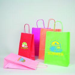 Customized Personalized shopping bag Safari 14x8x39 CM | SHOPPING BAG SAFARI | FLEXO PRINTING IN TWO COLOURS ON FIXED AREAS