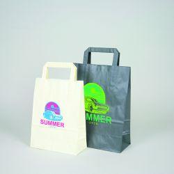Customized Personalized shopping bag Box 26x17x25 CM | SHOPPING BAG BOX | FLEXO PRINTING IN TWO COLOURS ON FIXED AREAS ON BOT...