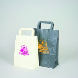 Customized Personalized shopping bag Box 26x17x25 CM | SHOPPING BAG BOX | FLEXO PRINTING IN ONE COLOR ON FIXED AREAS ON BOTH ...