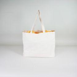 Customized Personalized reusable cotton bag 38x10x42 CM | SHOPPING BAG EN COTON | IMPRESSION EN SÉRIGRAPHIE SUR UNE FACE EN U...